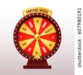 3d realistic fortune wheel... | Shutterstock .eps vector #607980191