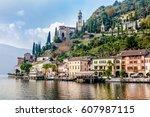 morcote  switzerland   october...   Shutterstock . vector #607987115