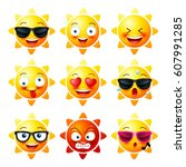 Sun  Smiley Face Icons Or...