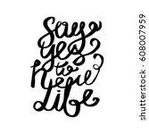 positive inscription. greeting... | Shutterstock .eps vector #608007959