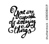 vector calligraphy. hand drawn... | Shutterstock .eps vector #608008019