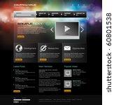 vector website design template   Shutterstock .eps vector #60801538