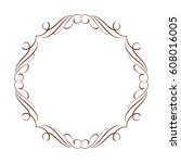 calligraphic frames.vector... | Shutterstock .eps vector #608016005