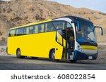 beautiful bus in the desert....   Shutterstock . vector #608022854