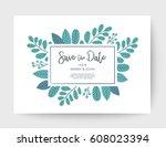 wedding floral card  wedding... | Shutterstock .eps vector #608023394
