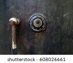 old safe | Shutterstock . vector #608026661