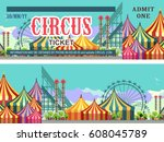 ticket for the performance and... | Shutterstock .eps vector #608045789