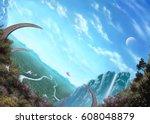 digital illustration of... | Shutterstock . vector #608048879