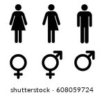 male  female and transgender ... | Shutterstock .eps vector #608059724