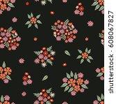 spring blossom. seamless floral ... | Shutterstock .eps vector #608067827