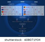 match schedule  template for... | Shutterstock .eps vector #608071934