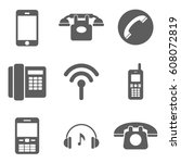 set of phone icon | Shutterstock .eps vector #608072819