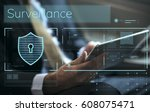 data security system shield...   Shutterstock . vector #608075471