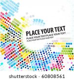 abstract mosaic background ... | Shutterstock .eps vector #60808561