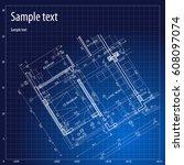 architecture grid blueprint... | Shutterstock .eps vector #608097074