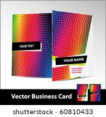 vertical vector business card. | Shutterstock .eps vector #60810433