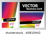 vector business card. | Shutterstock .eps vector #60810442