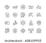 simple set of protection... | Shutterstock .eps vector #608109935