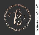 uppercase letter b in modern... | Shutterstock .eps vector #608116085