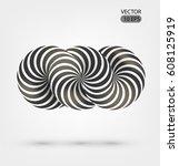 optical illusion illustration ... | Shutterstock .eps vector #608125919