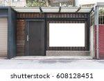 street  banner   sign  lighting ... | Shutterstock . vector #608128451