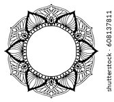 mandalas for coloring book.... | Shutterstock .eps vector #608137811