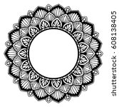 mandalas for coloring book.... | Shutterstock .eps vector #608138405