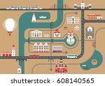 vector scheme of a nonexistent...   Shutterstock .eps vector #608140565