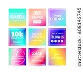 modern sale banners template... | Shutterstock .eps vector #608143745