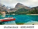lake o'hara  yohu national park ... | Shutterstock . vector #608144009