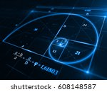 golden ratio concept   3d... | Shutterstock . vector #608148587