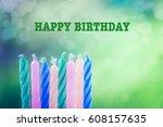 happy birthday   Shutterstock . vector #608157635