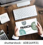 trade financial money banking... | Shutterstock . vector #608164931