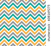 chevrons zigzag abstract style... | Shutterstock .eps vector #608169275