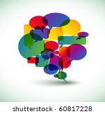 big speech bubble made from... | Shutterstock .eps vector #60817228