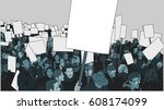illustration of crowd... | Shutterstock .eps vector #608174099