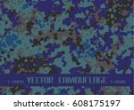 sea blue camouflage | Shutterstock .eps vector #608175197