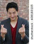 korean symbol hand heart  a