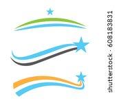 vector swooshes  swishes ... | Shutterstock .eps vector #608183831