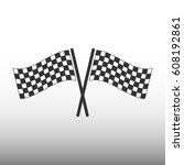 racing flag icon   Shutterstock .eps vector #608192861