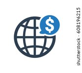 global business icon | Shutterstock .eps vector #608196215