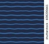 wavy stripes seamless vector... | Shutterstock .eps vector #608200661