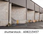 warehouse dock garage doors.... | Shutterstock . vector #608215457