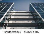 urban geometry  looking up to... | Shutterstock . vector #608215487