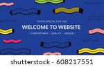welcome to website for socks... | Shutterstock .eps vector #608217551