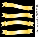 golden banners collection.... | Shutterstock .eps vector #60823198