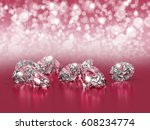 Group Of Diamonds Placed On...