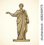 noble myth aristocrat orator in ... | Shutterstock .eps vector #608240975
