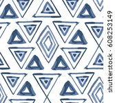 abstract simple vector ethnic... | Shutterstock .eps vector #608253149
