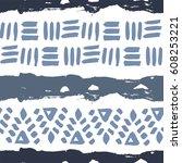 abstract simple vector ethnic... | Shutterstock .eps vector #608253221